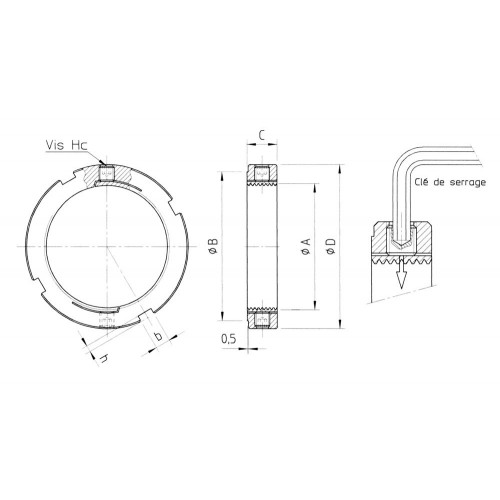 Ecrous de  serrage radial LRE20