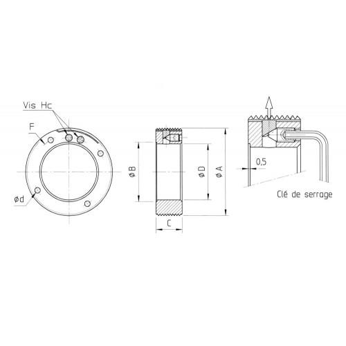 Ecrous de  serrage radial LX