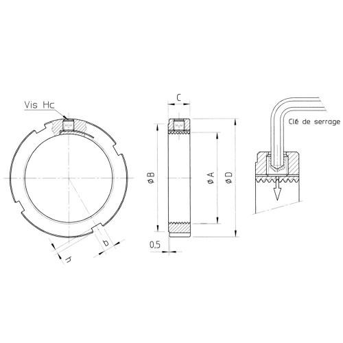 Ecrous de  serrage radial LR33