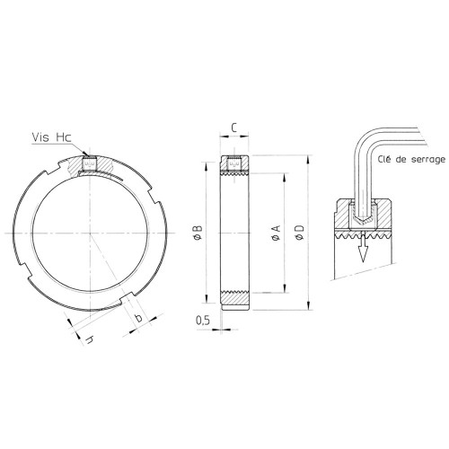 Ecrous de  serrage radial LR35